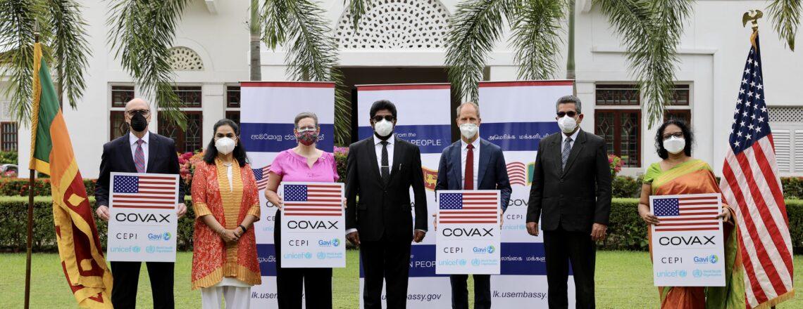 U.S. donates over 100,00 Pfizer-BioNTech vaccines to Sri Lanka