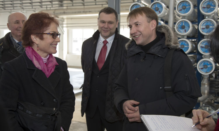 Ambassador Yovanovitch visited Odesa Portside Plant (OPP)