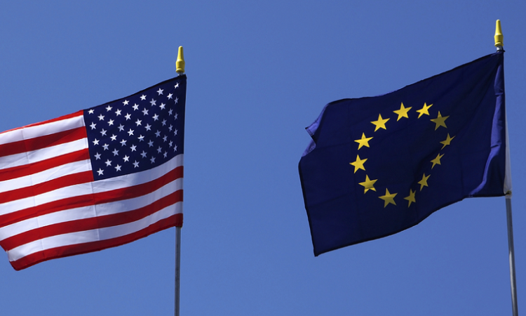 U.S. and EU Flags