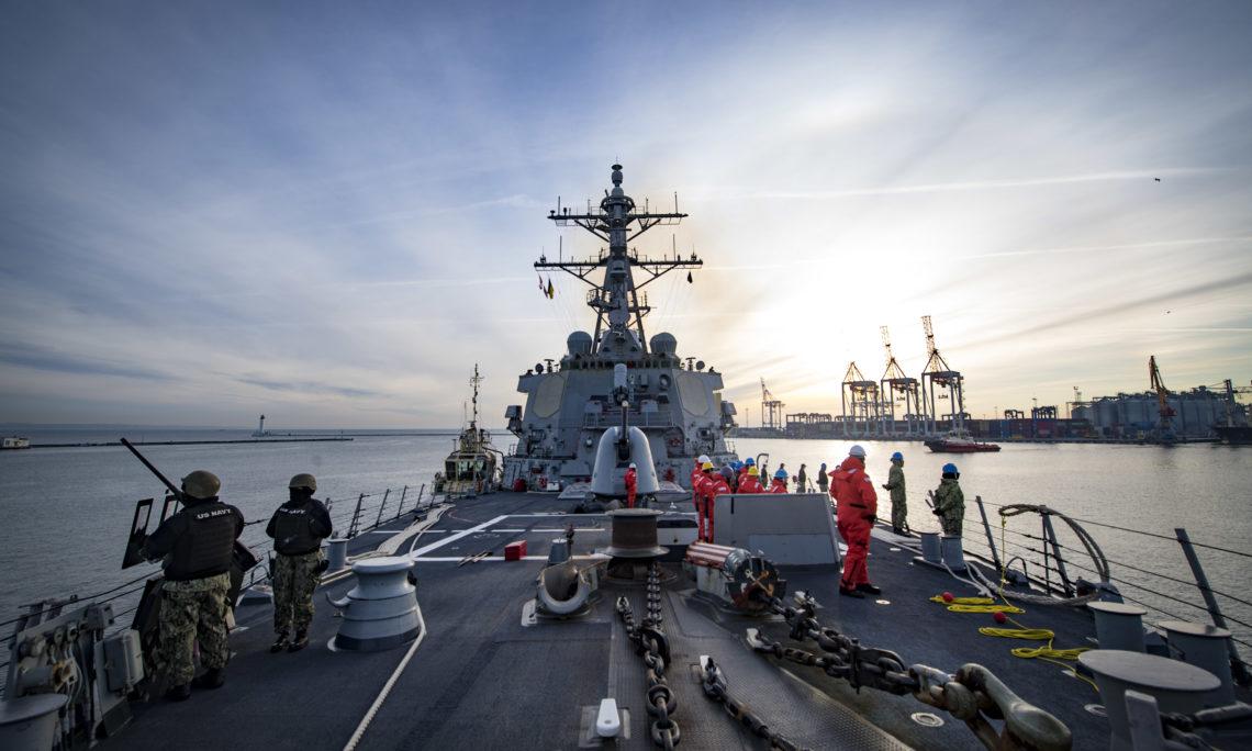 USS Donald Cook arrives in Odesa, Ukraine | U.S. Embassy in Ukraine