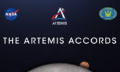 Artemis Accords + NASA and Ukr Space Agency logos