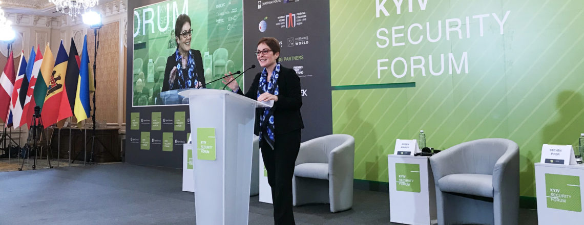 Ambassador Yovanovitch's Remarks at the Kyiv Security Forum