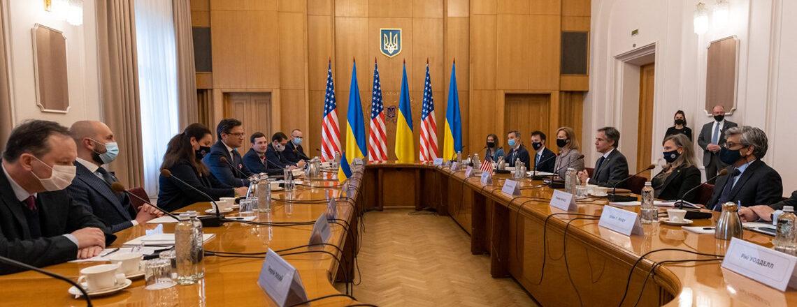 Secretary Antony J. Blinken & Ukrainian Foreign Minister Dmytro Kuleba Before the Meeting