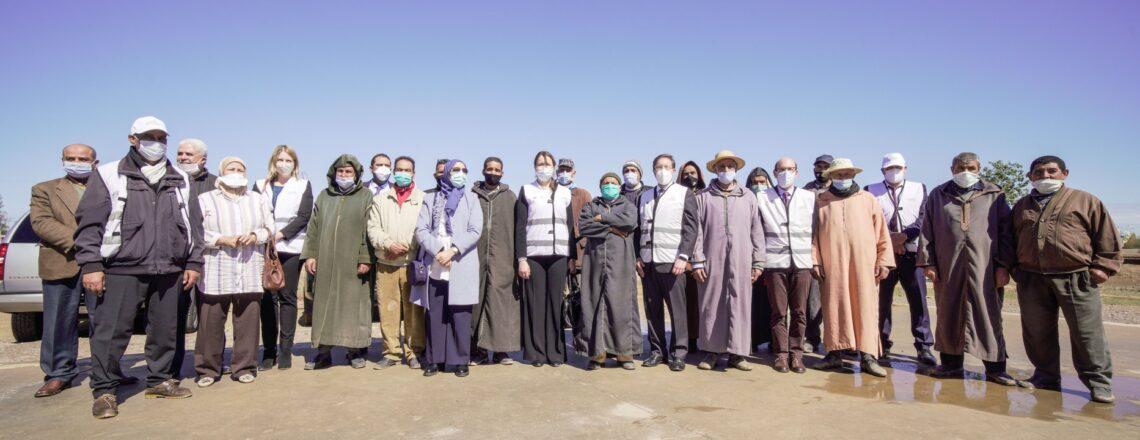 Chargé d'Affaires David Greene's visit to the Haouz region with MCC