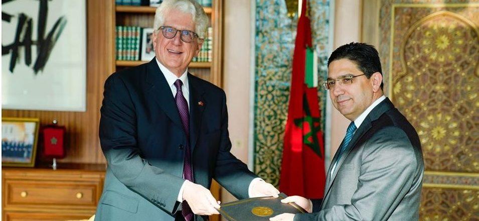 Ambassador David Fischer presented his credentials to Foreign Minister Nasser Bourita