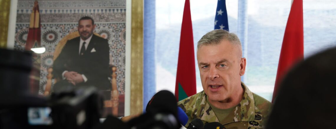 Major General Turley of the Utah National Guard was in Qasr Sghir, Morocco