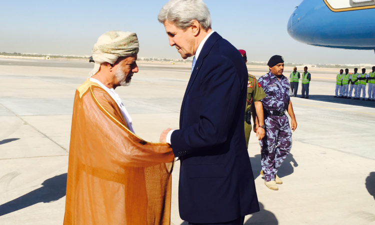 Secretary Kerry bids farewell to Omani Foreign Minister Yusuf bin Alawi