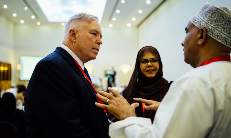 Dr. Ralph Sperry consults with local parents and physicians on the challenges of serving Oman's autistic population.