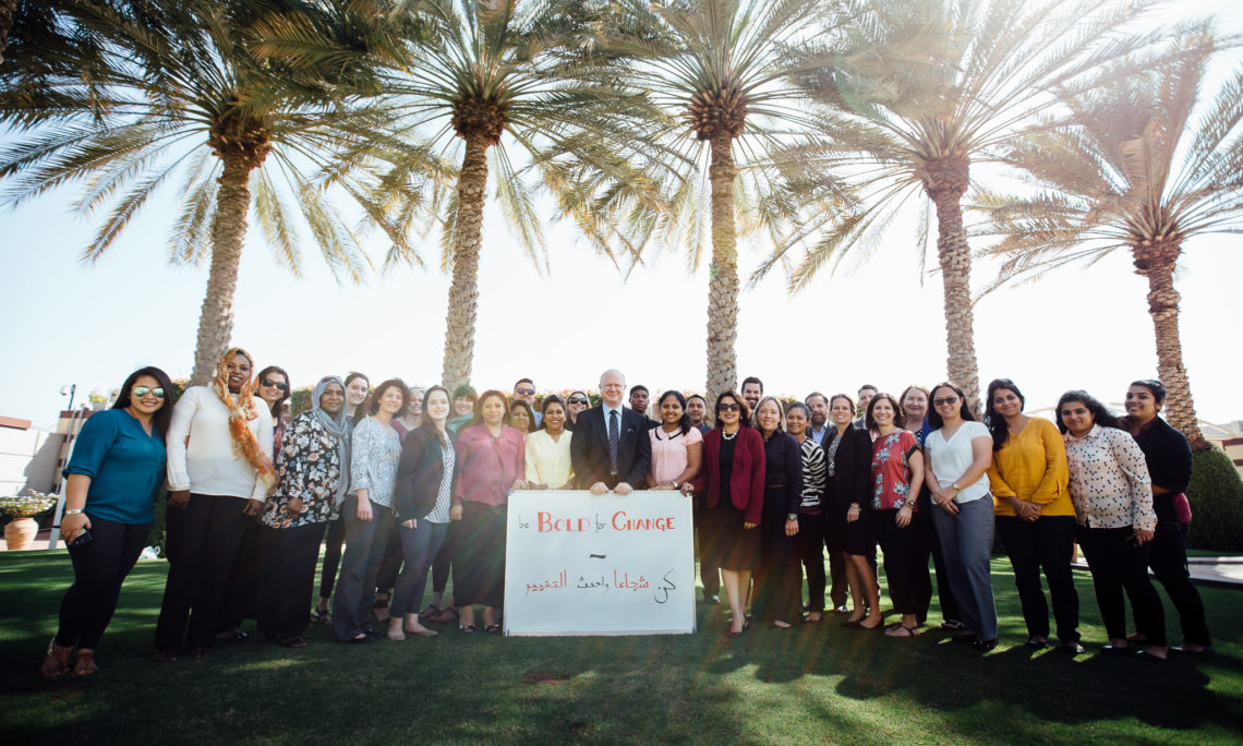 Ambassador Sievers and Deputy Chief of Mission Assiya Ashraf-Miller joined other Embassy staff to show their support for International Women's Day