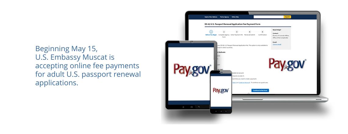 Renewing a U.S. Passport? Pay Fees Online