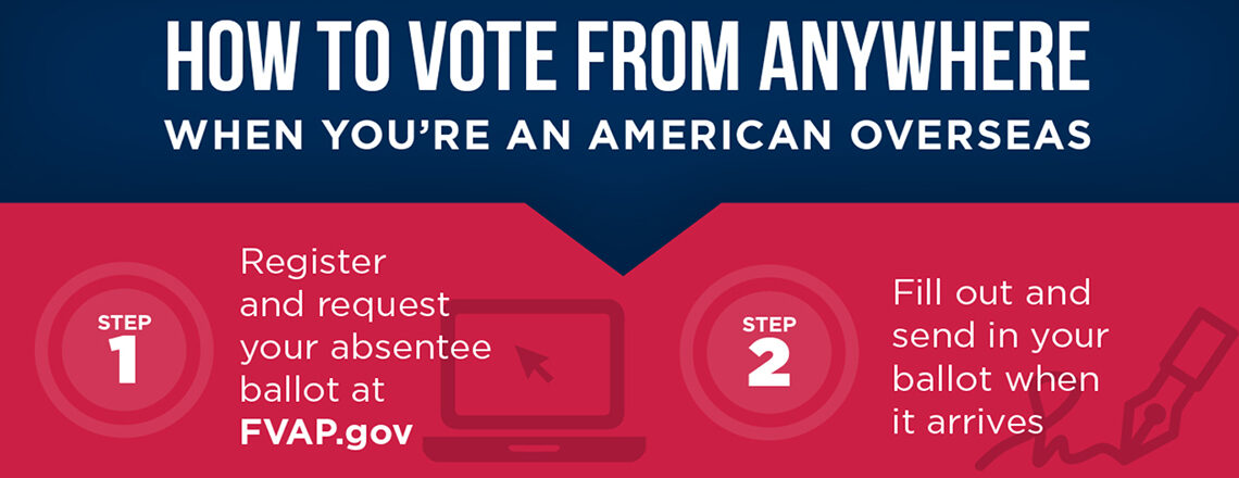 Overseas American Citizens Can Vote Absentee