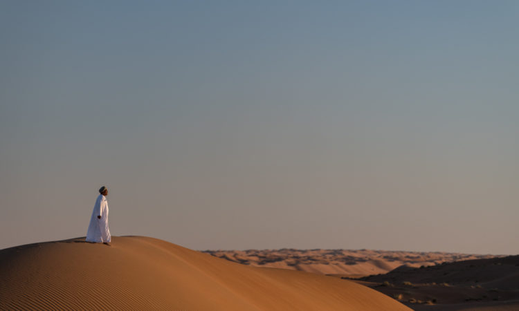 Man at Al Sharqiya Sands