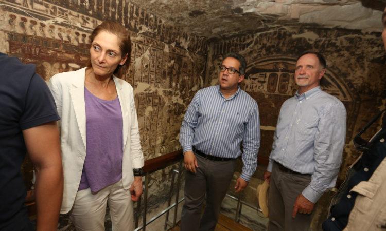 Ambassador Beecroft in USAID restoration project in Luxor