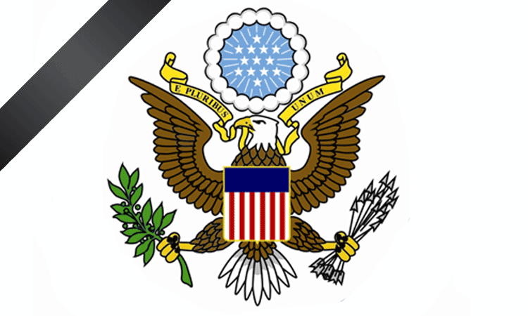 Embassy Seal with black ribbon