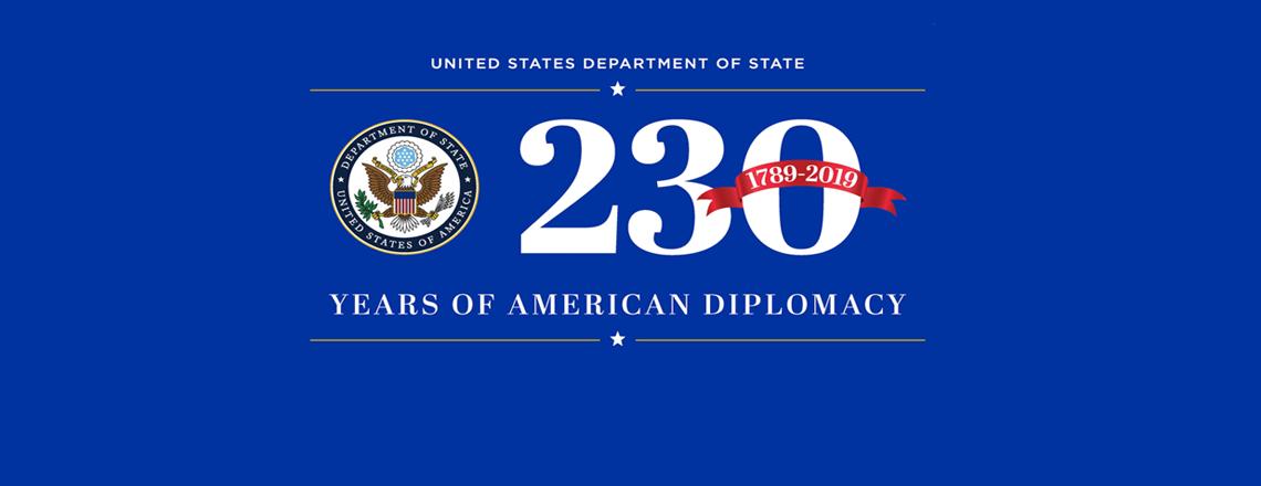 تكمل وزارة الخارجية الأميركية 230 عاما في العمل الدبلوماسي