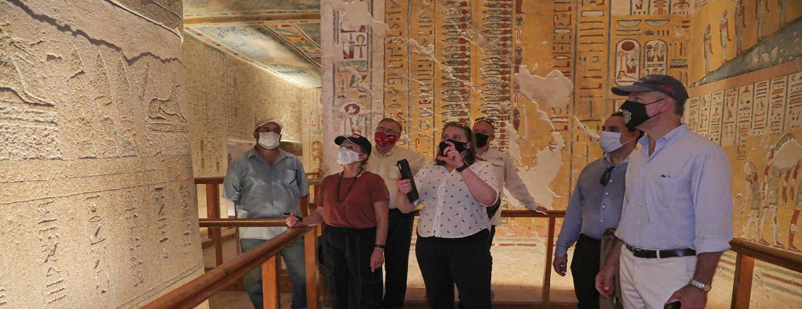 U.S. Ambassador Jonathan R. Cohen visits Luxor