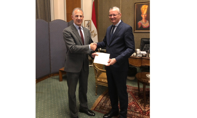 U.S. Ambassador Jonathan Cohen Presents Credentials at the Egyptian Ministry of Foreign Affairs – November 17 2019 (003)
