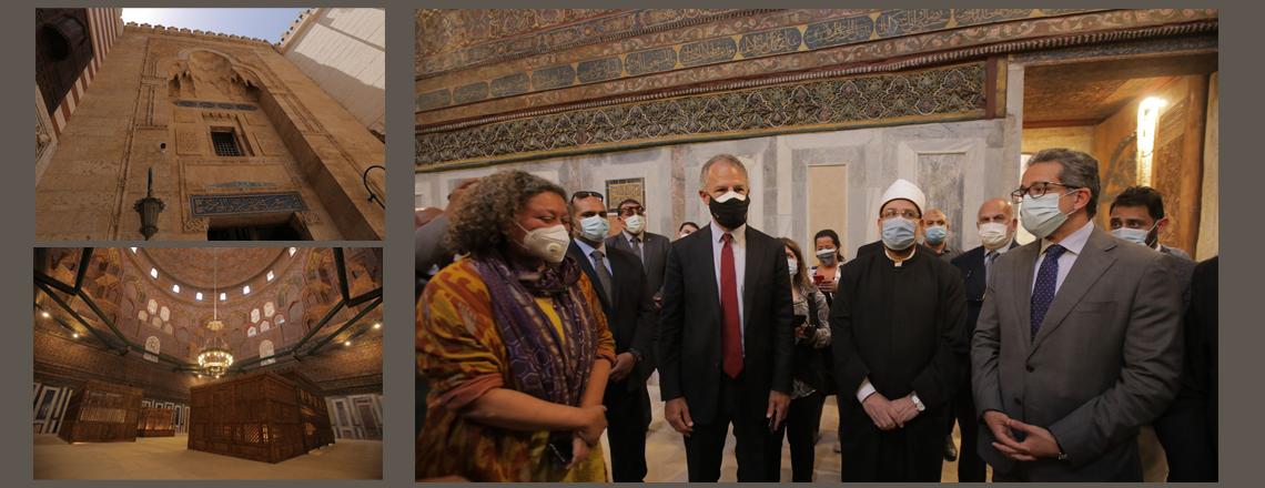 السفير جوناثان كوهين يشارك في إفتتاح ضريح الإمام الشافعي بعد تدشينه