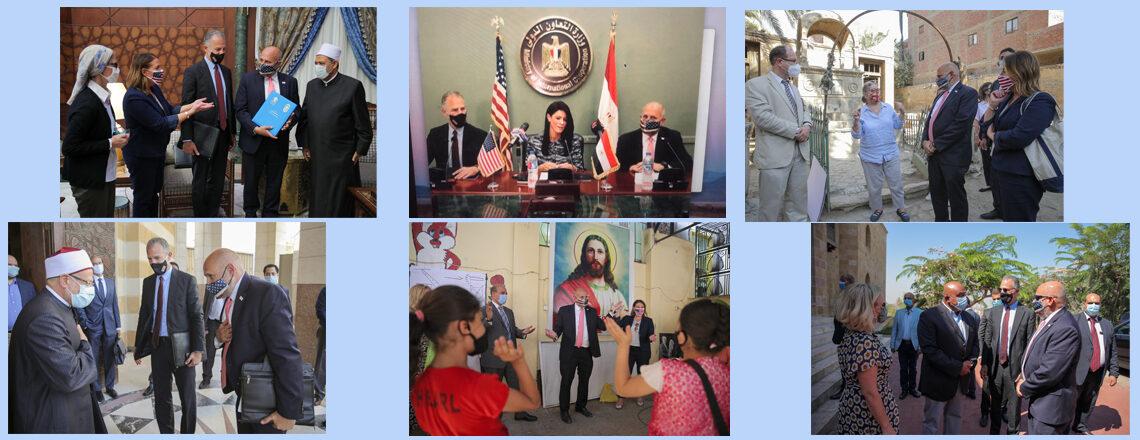 جون بارسا يلتقي بأعضاء من الحكومة المصرية والقادة الدينيين