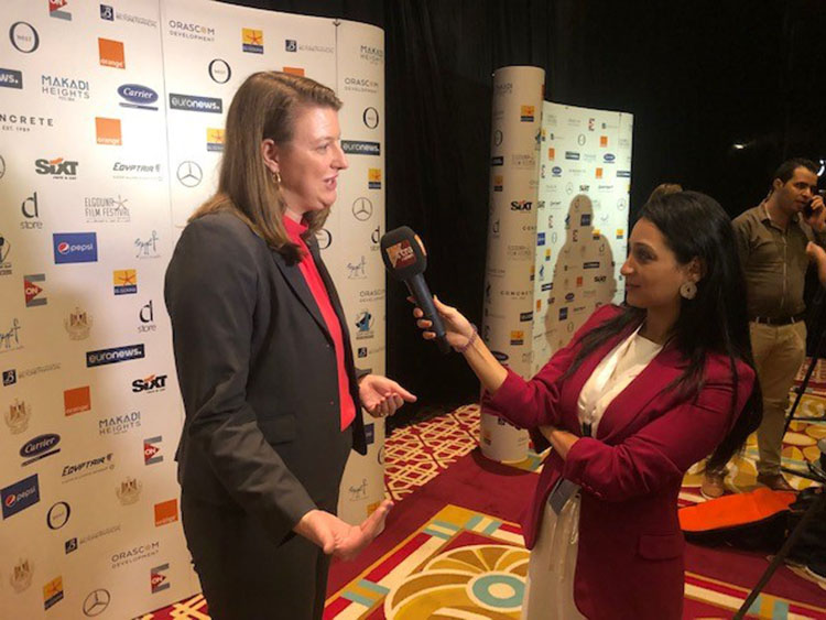 CBC-Extra News TV interview with U.S. Embassy Cairo's Cultural Attache Rachel Leslie.