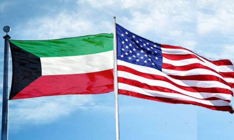 U.S. & Kuwait Flags