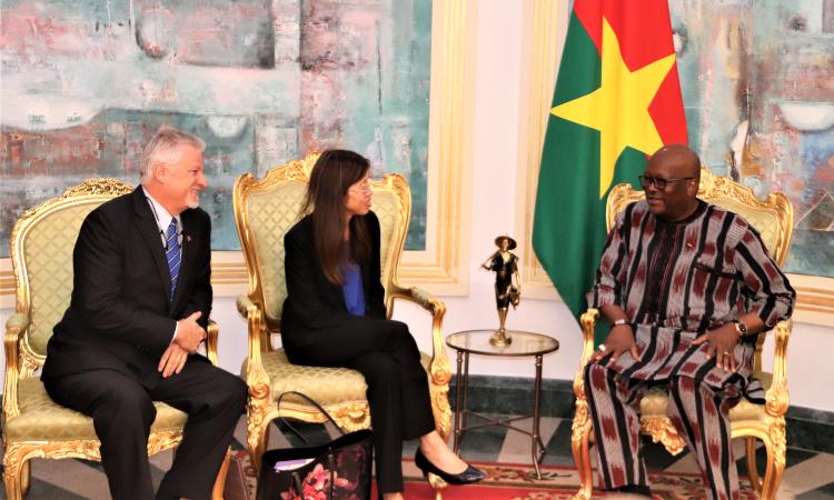 Ambassador Young and MCC Representatives met President KABORE