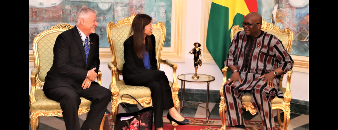 Ambassador Young and President Kaboré review New MCC Compact