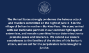 Attack in Solhan – Condolence Message
