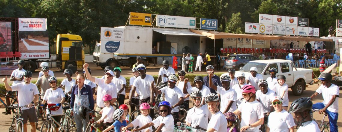 U.S. Embassy Joins Burkinabe for Solidarity Ride on the Final Tour du Faso Stretch.