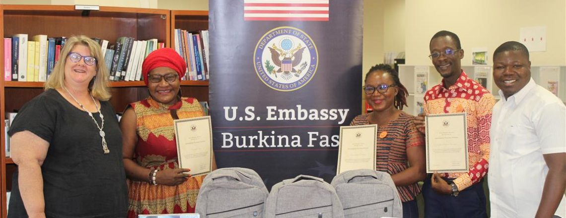 U.S. Embassy Burkina Faso Welcomes Three New Nouveaux Horizons (NH) Ambassadors.