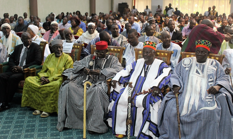 Traditional Leaders - Moro Naaba (2nd from the right)