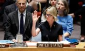Ambassador Kelly Craft makes her first vote at a U.N. Security Council meeting on September 12. (© Richard Drew/AP Images)