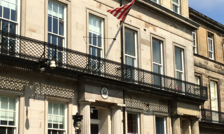 View of the outside of the US Consulate-General Edinburgh
