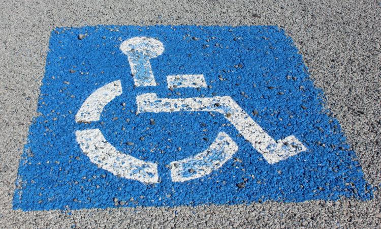 Handicapped parking marker