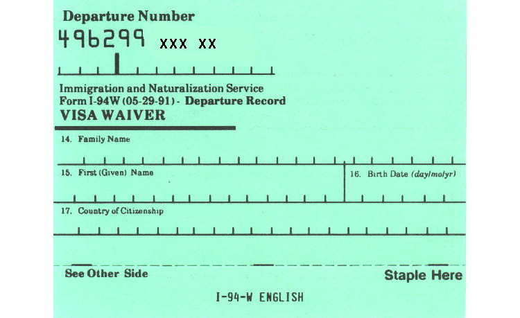 i 94 form immigration usa  What is an I-10 or I-10W card?