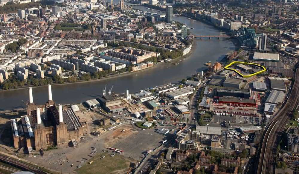 Aerial View Of Nine Elms Battersea Us Embassy Consulates In - Us-embassy-london-map