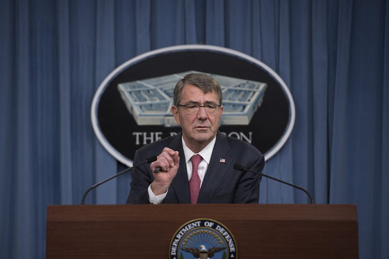 Defense Secretary Ash Carter announces his Women in Service Review during a press brief at the Pentagon, Dec. 3, 2015. (DoD photo)