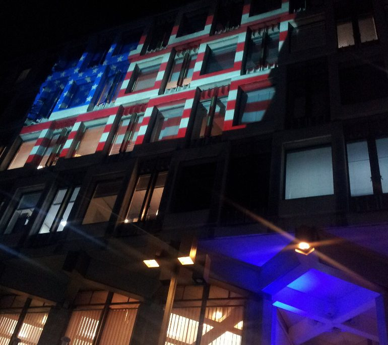 US Embassy London election night 2012