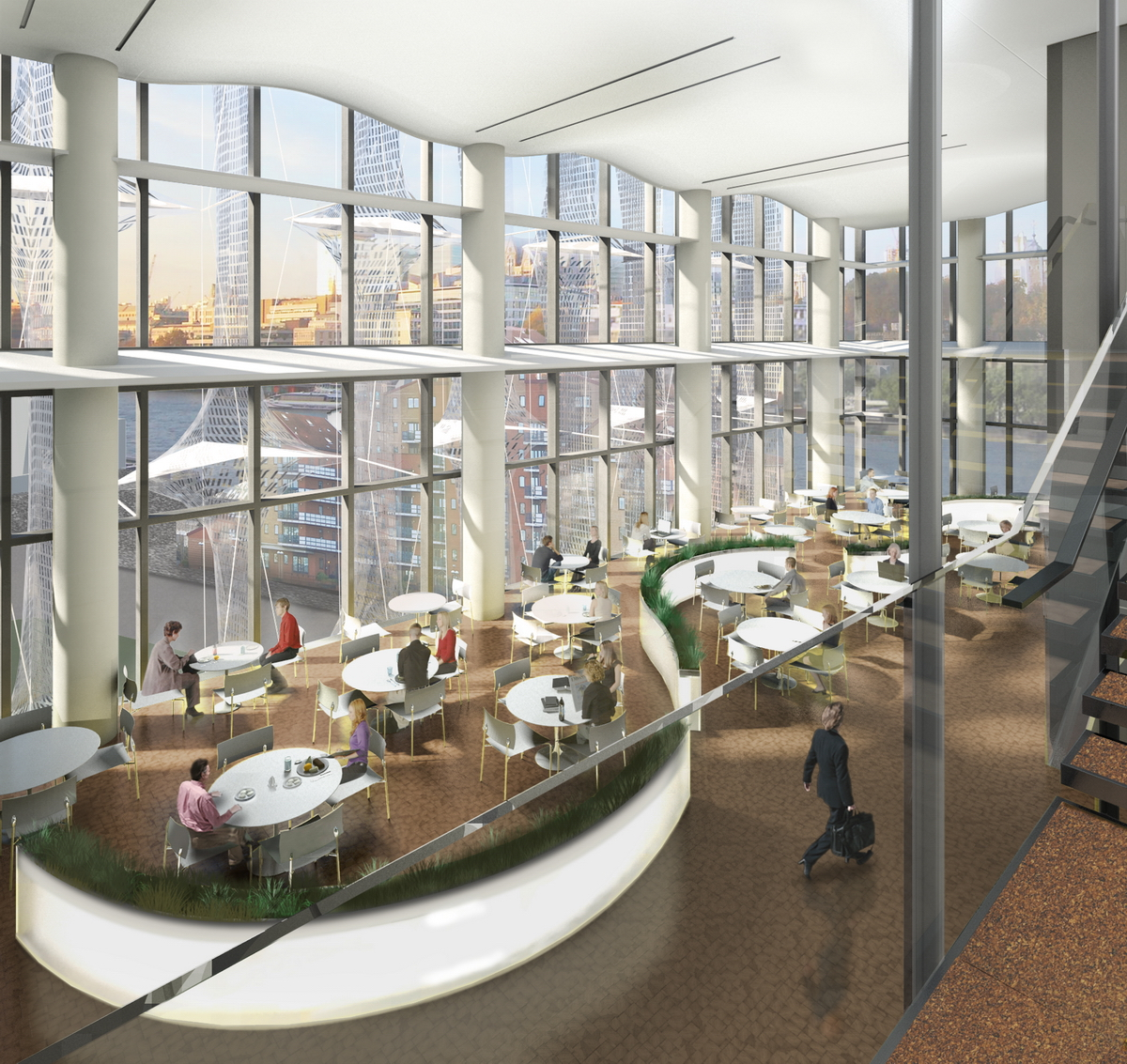 Artists Impression Of The Chancery Cafeteria 11 Mb 300dpi - Us-embassy-london-map