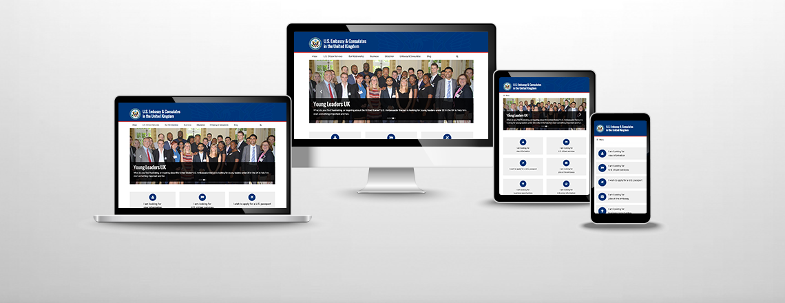 Image of our site on various platforms