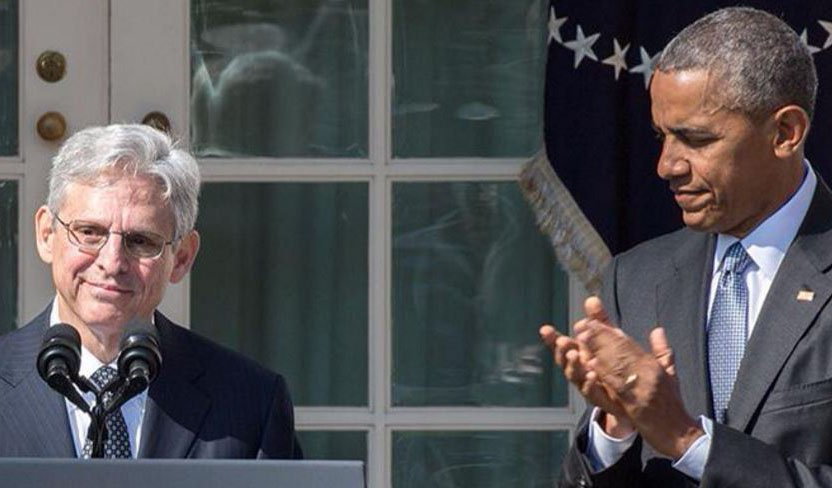 President Obama with Chief Judge Merrick Garland at White House