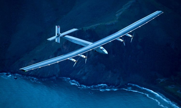 Solar Impulse 2 arrives in San Francisco after a three-day journey over the Pacific Ocean on April 23. (© AP Images)