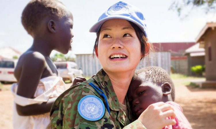 Female peacekeepers help reduce conflict and provide a greater sense of security to women and children.