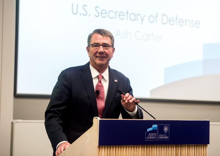 Defense Secretary Ash Carter during remarks at trhe Blavatnik School of Government, Oxford, 06 September 2016
