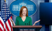 White House Press Secretary Jen Psaki holds a press briefing on Friday August 6, 2021, in the James S. Brady Press Briefing Room of the White House. (Official White House Photo by Erin Scott)