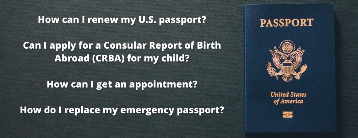 U.S. passport and CRBA FAQs