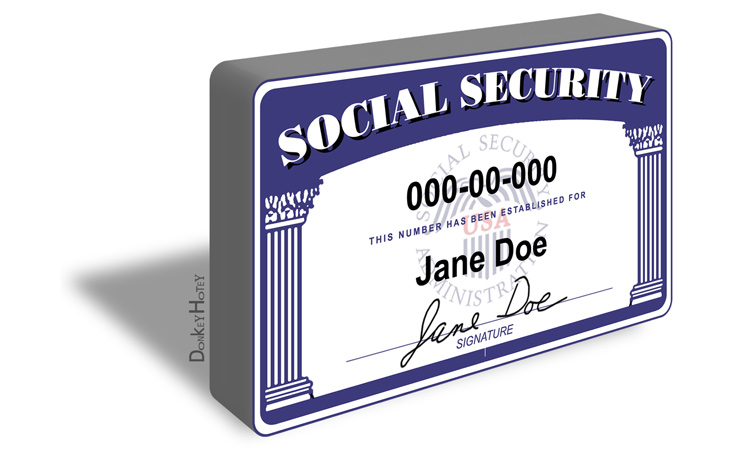 Sample social security number card