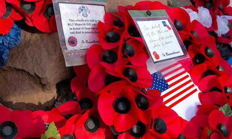 Sheffield St Augustines Church and the Sheffield RAF Association remember 10 US Mi Amigo airmen