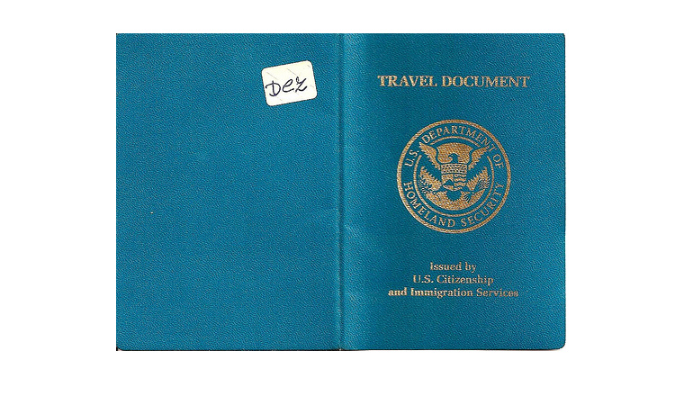 Photo of a USCIS US travel document