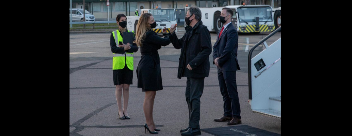 Secretary Blinken Arrives in London